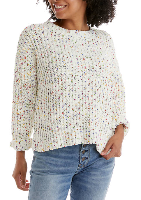 A. Byer Novelty Confetti Pullover Sweater