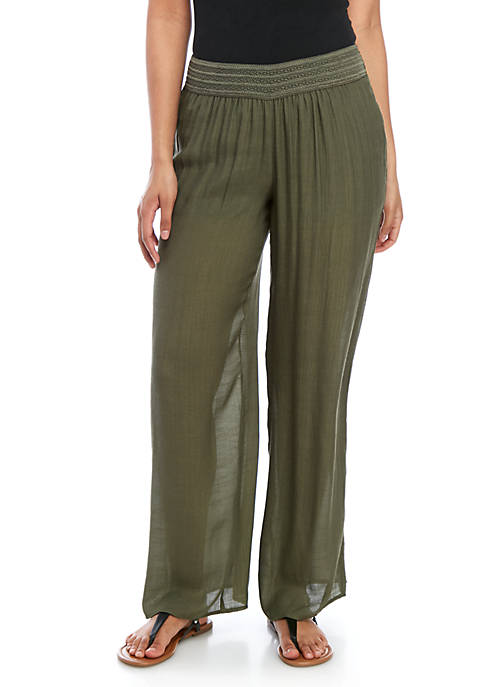 A. Byer Solid Gauze Pants