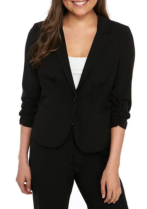 1 Button Front Blazer