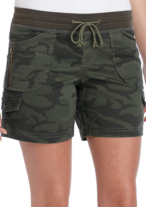 Convertible Twill Cargo Shorts