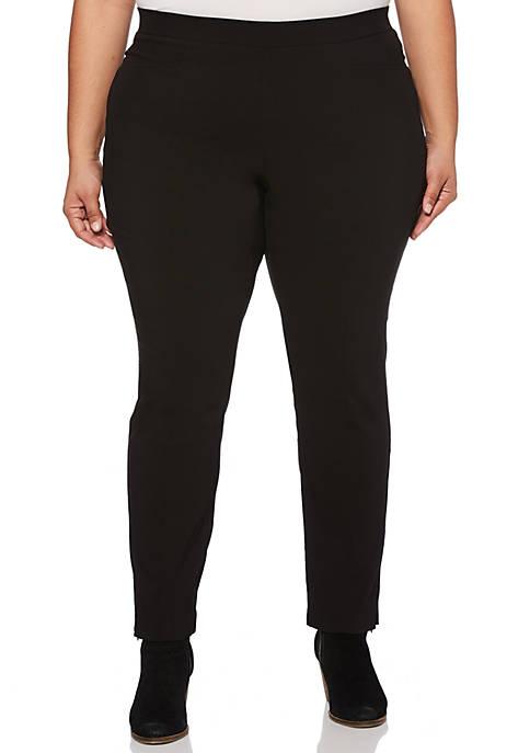 Rafaella Plus Size Solid Power Stretch Pants
