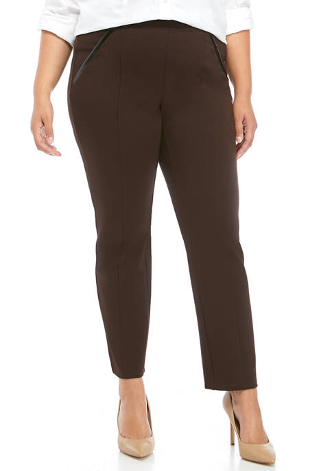Plus Size Short Ponte Pants