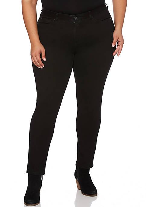 Rafaella Plus Size Black Skinny Jean