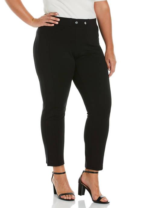 Plus Size Ponte Pants