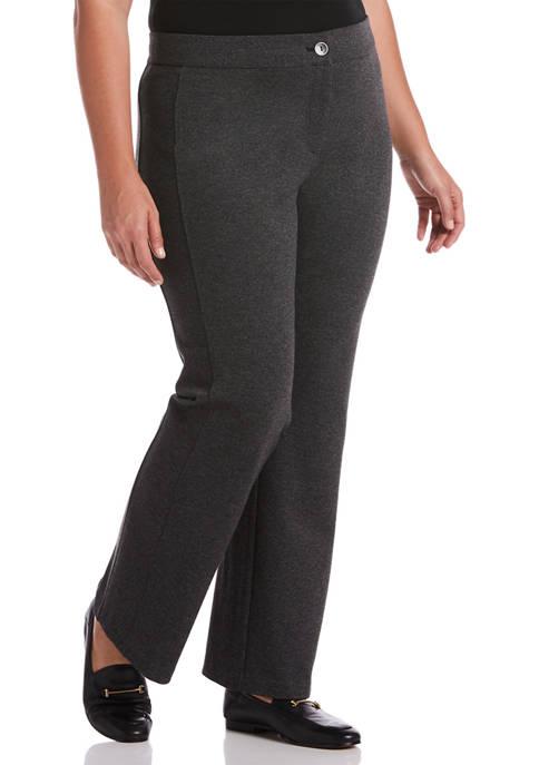 Rafaella Plus Size Fly Front Bootcut Pants