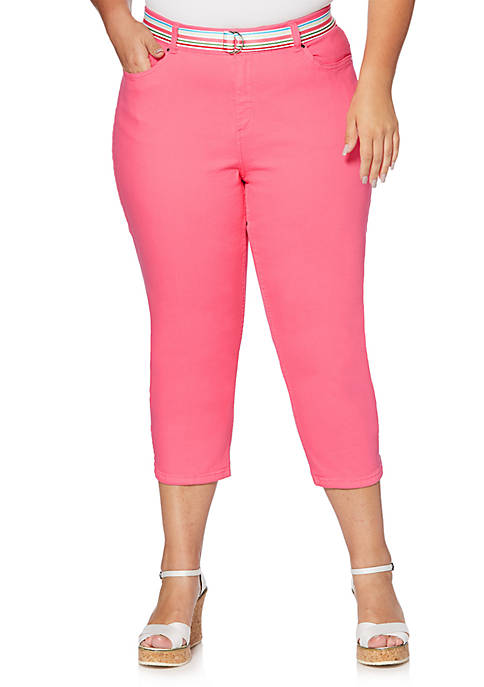 Rafaella Plus Size Colored Denim Capris