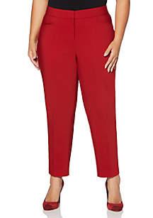 Plus Size Lightweight Satin Twill Pants