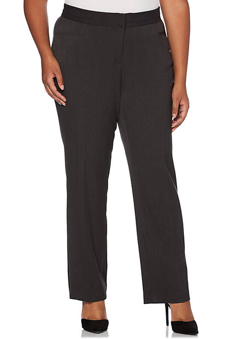 Rafaella Plus Size Two-Way Gab Pants