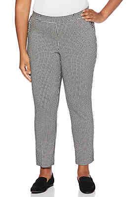 a8f9d9f7d0c Rafaella Plus Size Pull On Skinny Gingham Pants ...