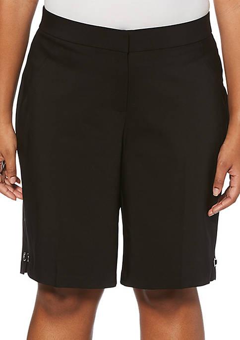 Plus Size Walking Twill Shorts