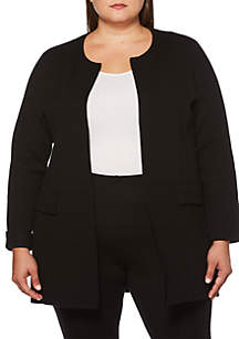 Plus Size Long Sleeve Duster