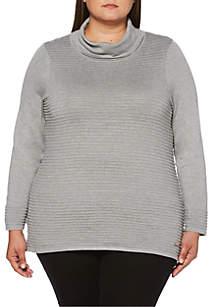 Rafaella Plus Size Funnel Neck Sweater