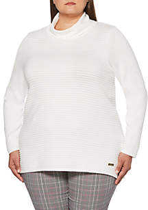 Plus Size Funnel Neck Sweater