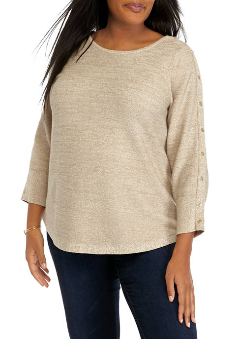 Plus Size Long Sleeve Pullover Sweater