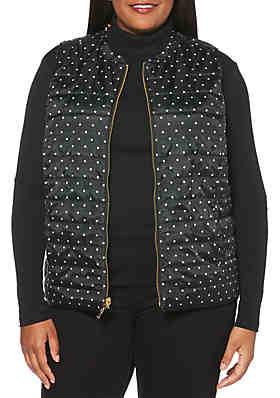 Rafaella Plus Size Reversible Puffer Vest Rafaella Plus Size Reversible Puffer  Vest e363e65b3