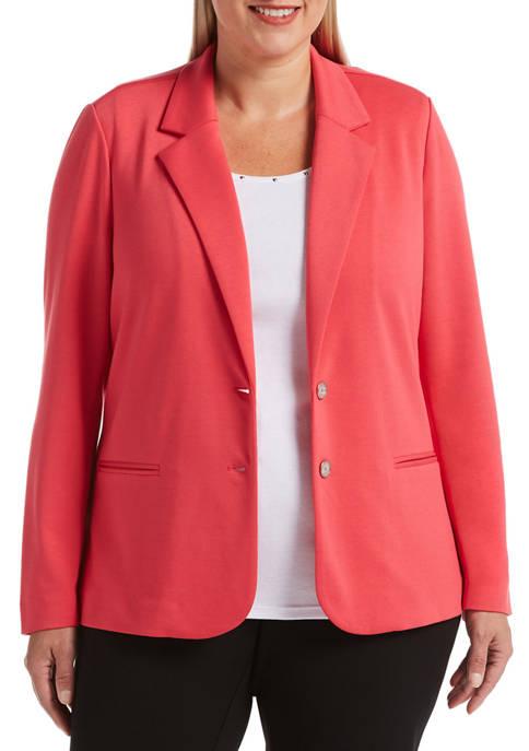 Rafaella Plus Size Long Sleeve Blazer