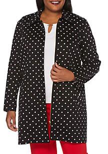 Rafaella Plus Size Dot Bracelet Sleeve Topper