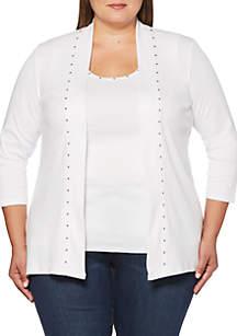 Rafaella Plus Size Embellished Cardigan