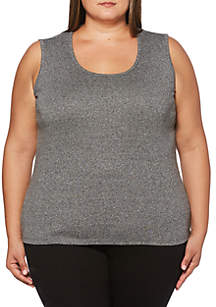 Plus Size Embellished Tank