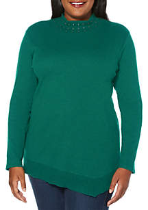 Plus Size Boat Neck Top