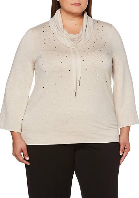 Rafaella Plus Size Cowl Neck Tunic