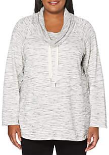 3436a7b55d1e6 ... Rafaella Plus Size Melanage French Terry Pullover Top
