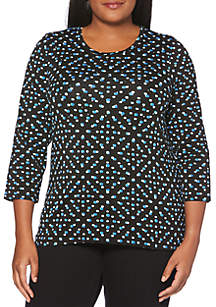 Plus Size Dot Modal Top