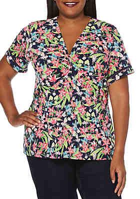 974b2eb2e04 Rafaella Plus Size Floral ITY Top ...