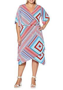 a92dd27bfa06 ... Rafaella Plus Size Knit Dress with Tie