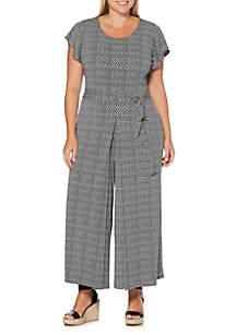 Rafaella Plus Size Printed Jumpsuit