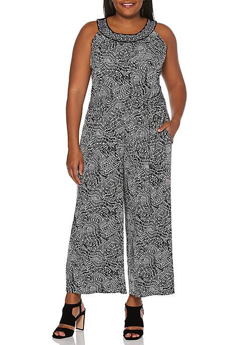 Plus Size Printed Jumpsuit