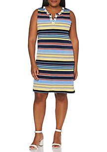Rafaella Plus Size Stripe ITY Dress