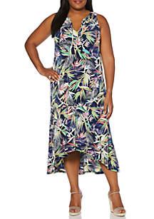 Rafaella Plus Size Ity Floral High Low Dress