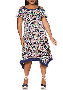 dc4e4f315a20 ... Rafaella Plus Size Frame Print Dress