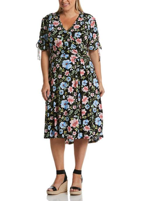 Plus Size Cambria Floral Hi Low Midi Dress