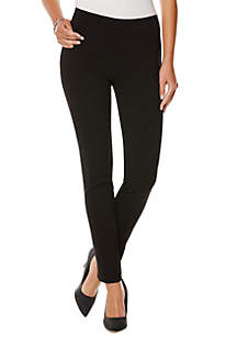 Petite Solid Power Stretch Pants