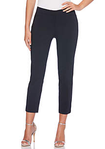 Petite Satin Twill Ankle Pants