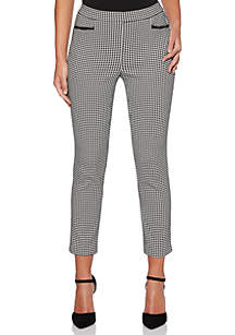 Petite Houndstooth Pants