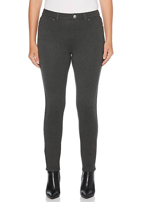 Petite 5-Pocket Skinny Ponte Pants