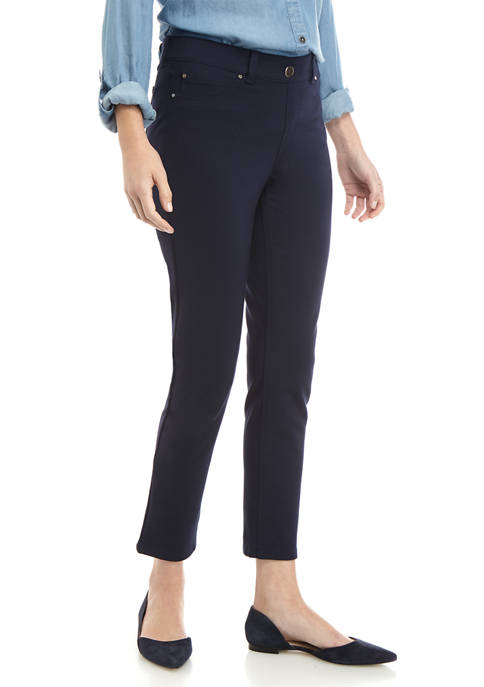 Petite Faux Pocket Skinny Ankle Comfort Waist Pants