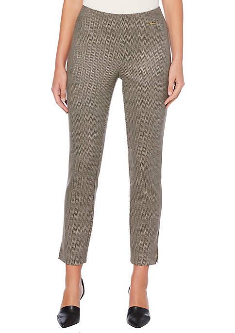 Rafaella Petite Houndstooth Skinny Compression Pants