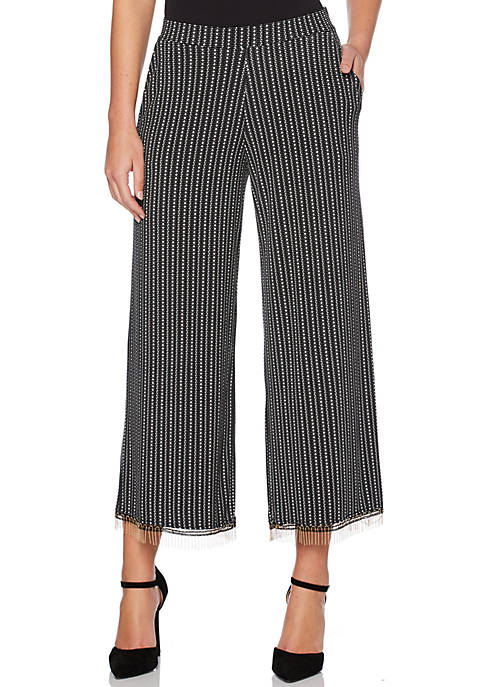Rafaella Dots And Dashes ITY Wide Leg Pants