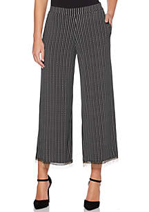 Petite Dots And Dashes ITY Wide Leg Pants
