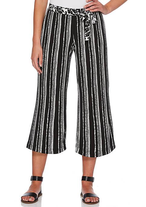 Petite Stripe Crop Pants