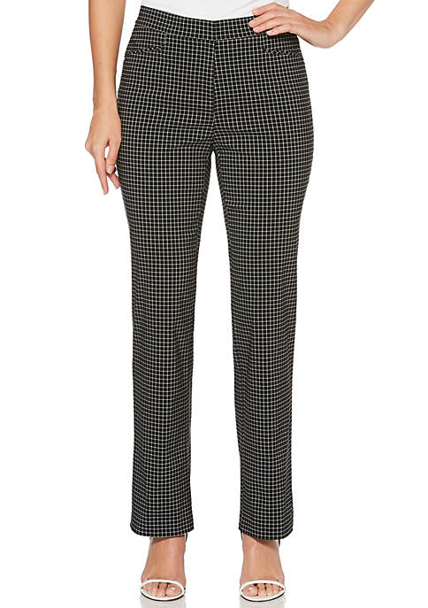 Rafaella Petite Windowpane Supreme Pants