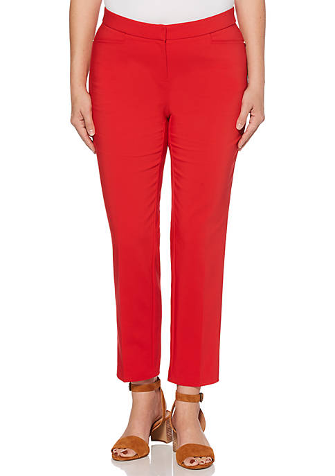 Rafaella Petite Satin Twill Ankle Pants