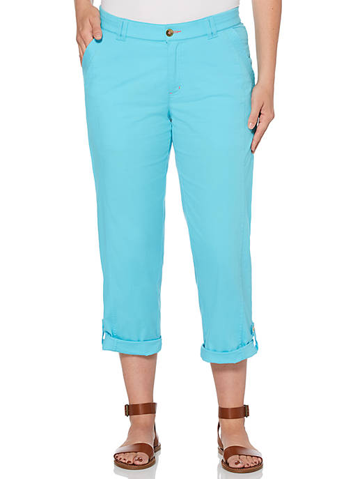 Petite Weekend Essential Solid Woven Capris