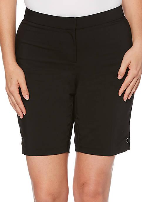 Petite Satin Twill Walking Shorts