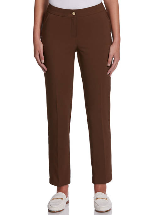 Rafaella Petite Fashion Flat Front Twill Pants