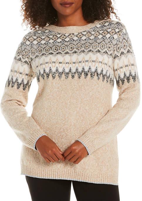 Petite Fair Isle Tunic Sweater